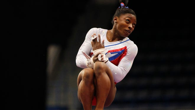 Simone Biles is a near-lock to win a second consecutive U.S. title, and she's a heavy favorite to repeat at worlds, something only five women have done.