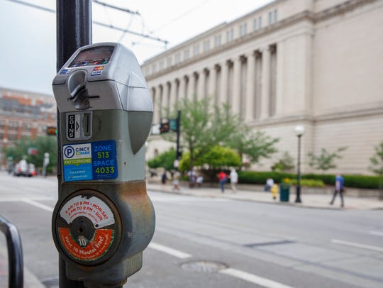 Parking rates near the Hamilton County Courthouse on