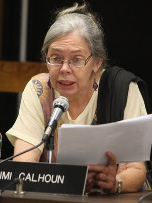 Mimi Calhoun while serving as an East amapo school trustee in 2010.