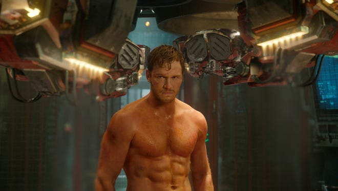 "This image released by Disney - Marvel shows Chris Pratt in a scene from ""Guardians Of The Galaxy."""