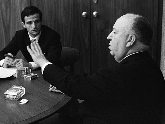 Francois Truffaut and Alfred Hitchcock
