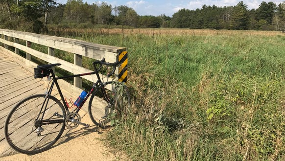 The Buffalo River State Trail west of Osseo served