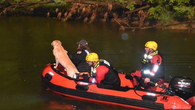 Rescue crews are searching for a man who fell into Eagle Creek Thursday.