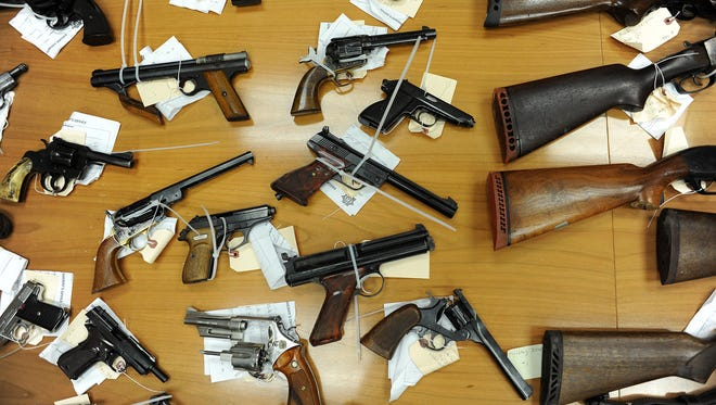 Some of the weapons turned in during a 2012 buyback program in Paterson.