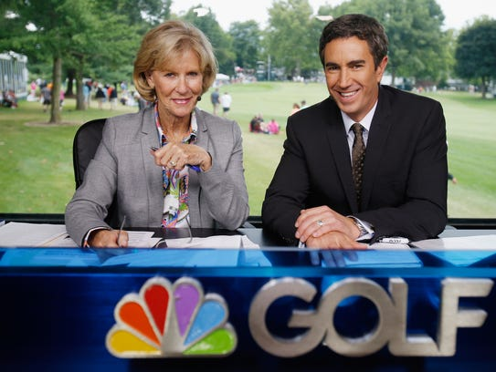 Terry Gannon (right) and Judy Rankin pair up to work