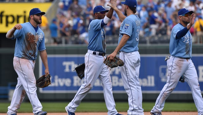 Mike Moustakas, Alcides Escobar and Eric Hosmer all could be heading to Cincinnati as AL All-Stars.