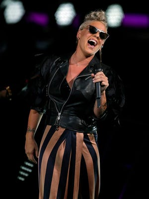 Pink performs at Summerfest's American Family Insurance Amphitheater July 2.