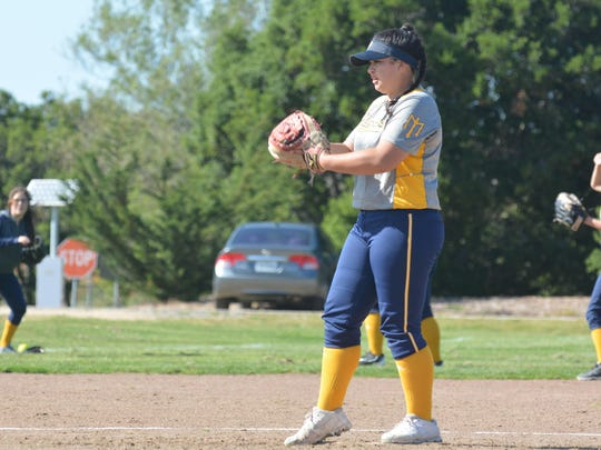 Marina's Vivian Valencia recently verbally committed to play softball at Howard University in Washington D.C. Valencia guided the Mariners to a 12-0 league record during her sophomore campaign.