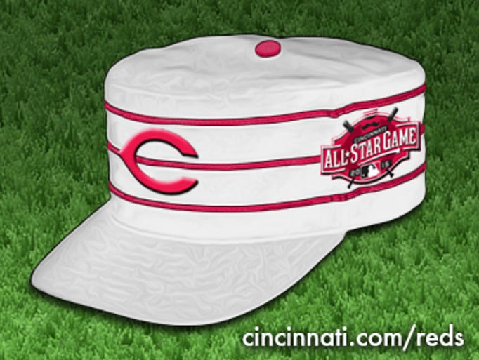 Concept: 2015 Cincinnati Reds All-Star Game hat.
