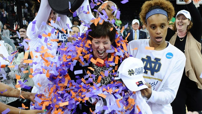 Muffet McGraw and the Notre Dame Fighting Irish have endured through several major injuries this season and now are on the brink of a national championship.