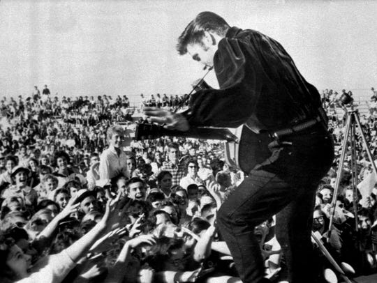 Elvis Presley returned triumphantly to his hometown