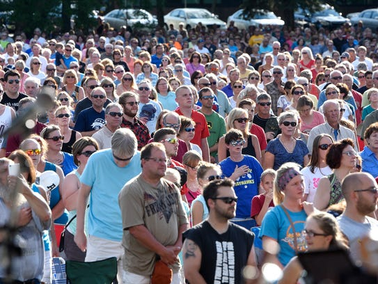 A large crowd is on hand at a previous Summertime by