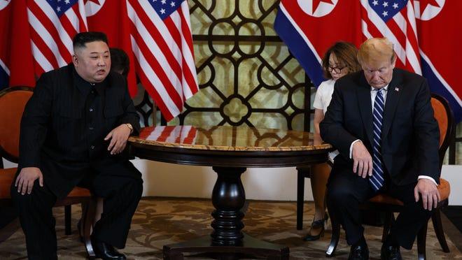 President Donald Trump meets North Korean leader Kim Jong Un, Feb. 28, 2019, in Hanoi.
