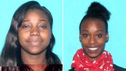 Detroit police are searching for Shavelle Monique Runels, 31, left, and Symone Monique Runels, 22, right.