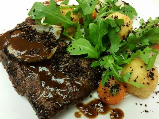 Flat iron steak at Purple Palm.