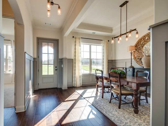 The Celebration model home in South Haven also features and open floor plan.