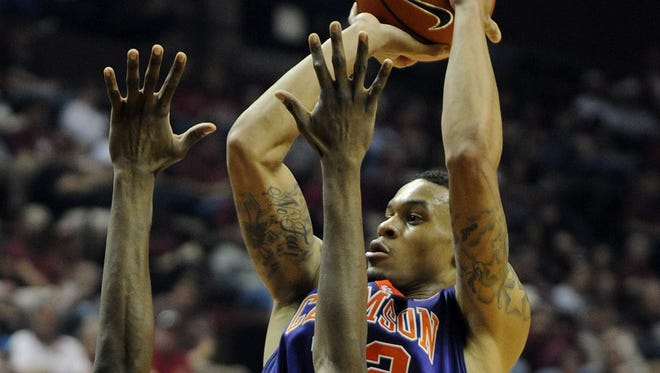 Clemson junior forward KJ McDaniels (32) is the only player in Division I who leads his team in scoring, rebounding, blocks, steals and 3-point shooting.
