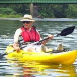 Jack Slocum, of Horseheads, still regularly paddles the Chemung River at age 87.