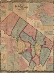 An 1861 map of Bergen and Passaic counties shows Pompton