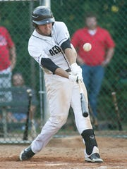 Red Lion's Mike Godfrey, fouls a ball off during the