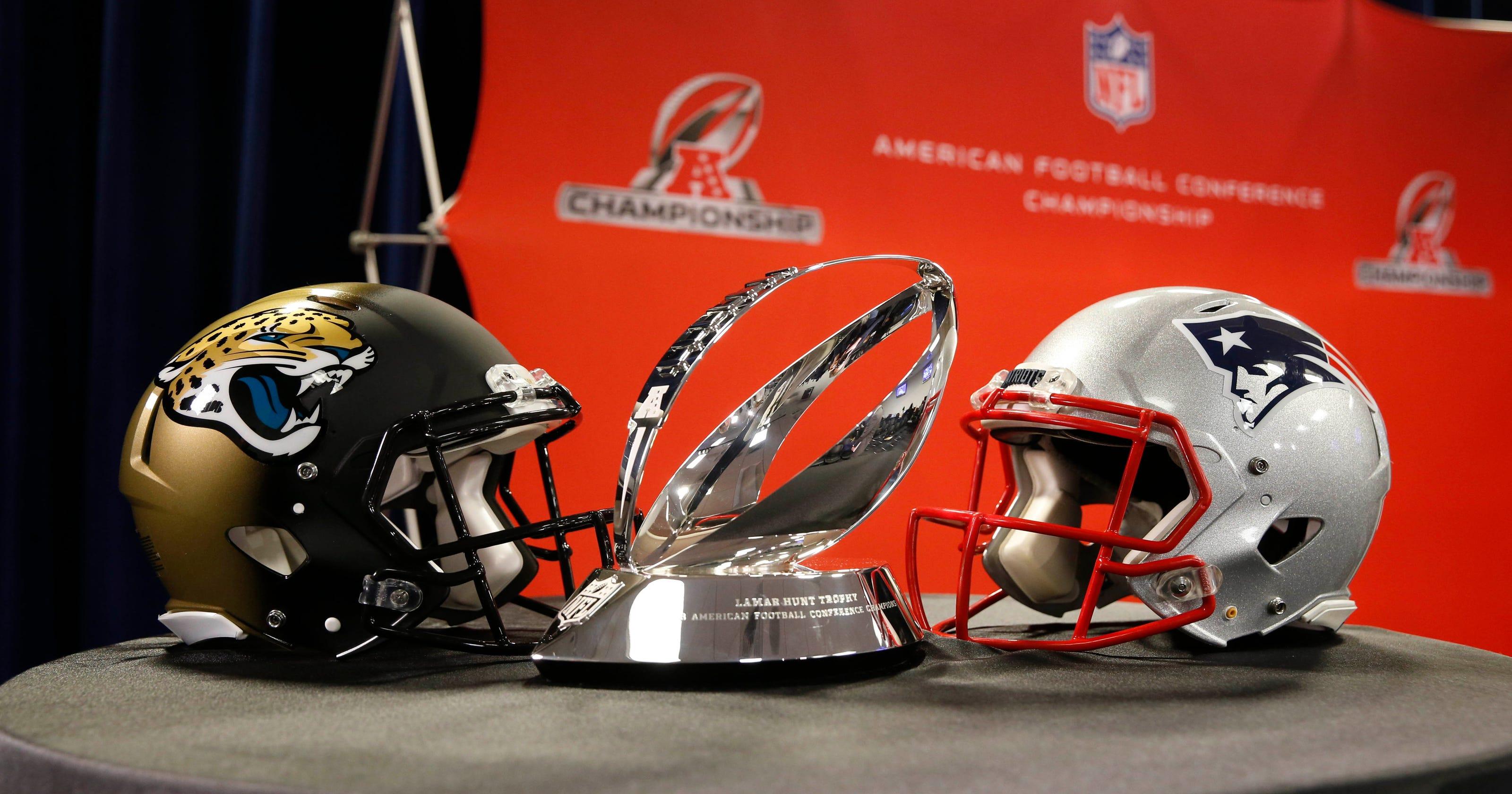 9c96e2d9c Jaguars-Patriots  AFC Championship Game kickoff time