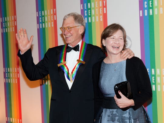 David Letterman with wife Regina Lasko at the 2012 Kennedy Center Honors.