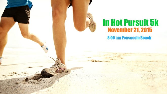 The Escambia County Sheriff's Office's annual In Hot Pursuit charity 5K will be held at the Pensacola Beach pavilion at 8 a.m. Saturday.