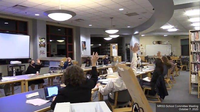 The Masconomet School Committee on Wednesday, Oct. 7 voted unanimously to move from remote learning to a hybrid learning model.