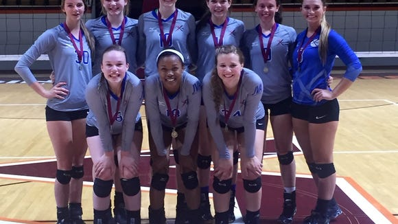 The Xcel Volleyball Performance 17X Select team.