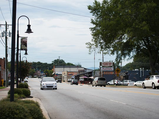 S. Main Street in Travelers Rest on Wednesday, August 17, 2016.