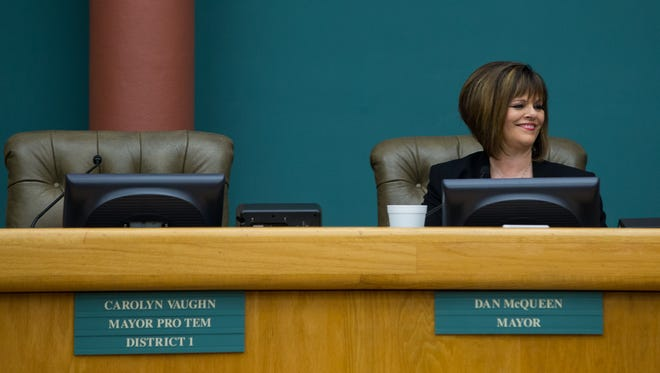 Corpus Christi council member Carolyn Vaughn is expected to announce her resignation at a council meeting ahead of Nueces County Judge Loyd Neal appointing someone to Commissioner Mike Pusley's seat.