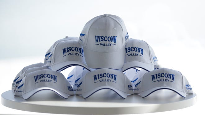 """""""Wisconn Valley"""" hats commemorated Foxconn's formal agreement to build its factory in Wisconsin. But questions remain about whether the company should have the right to divert large amounts of water from Lake Michigan for its operations."""