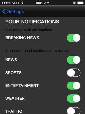 Set push alerts