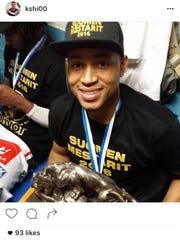 Kyle Shiloh celebrates his championship in Finland