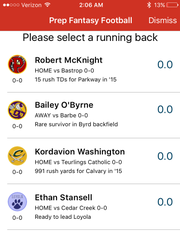Download the Friday Night Live app to play Prep Fantasy Football. The game features weekly winners and a 32-team playoff bracket.