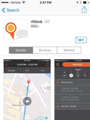 This is a screenshot of rMove, a new government-funded tool to study transportation.