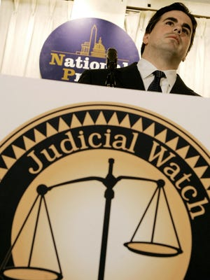Judicial Watch President Tom Fitton speaks at the National Press Club in Washington, D.C. on May 9, 2005.