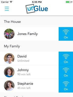 A screenshot of the app unGlue.