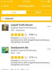 The national Untappd beer app allows beer fans to see