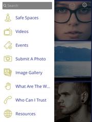Menu bar of the #LetsTalk app