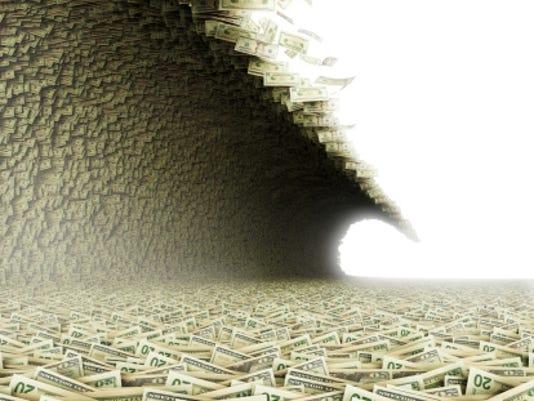 wave of money