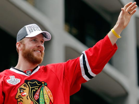 USP NHL: CHICAGO BLACKHAWKS-VICTORY CELEBRATION S HKN USA IL