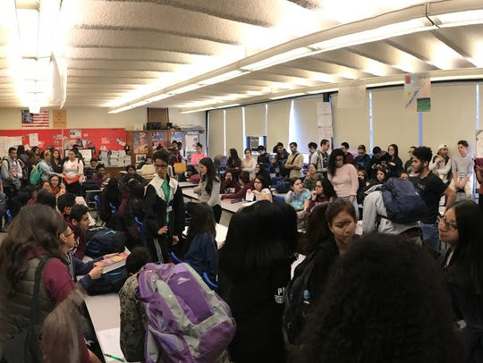 More than 100 Clifton High School students convened