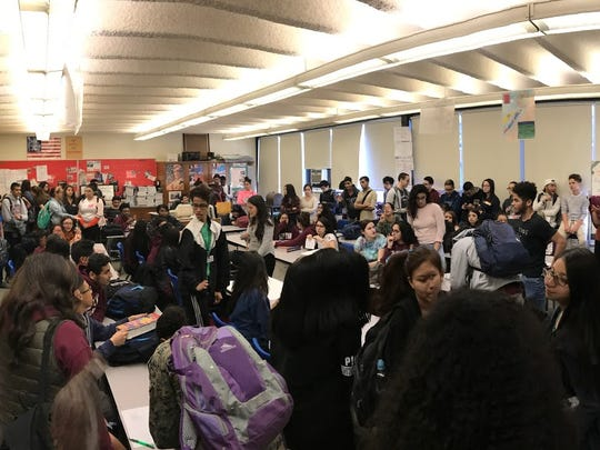 More than 100 Clifton High School students convened at a student union meeting on Thursday to organize a march protesting the state's distribution of school funding. The march is slated for March 8 following CHS dismissal.