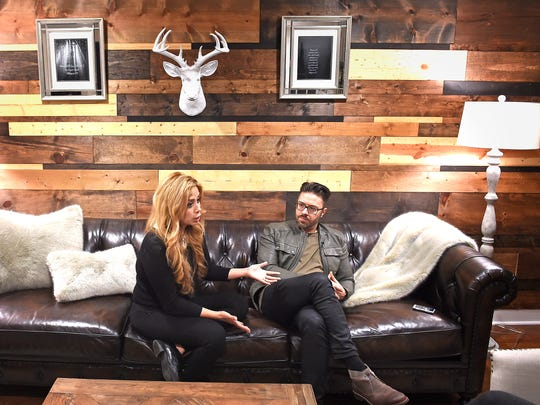 Danny Gokey explained that his wife Leyicet Peralta did a lot of the renovations and decorating herself at their new Bed and Breakfast in BrentwoodWednesday Jan. 11, 2017, in Brentwood, Tenn.