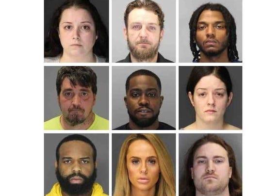 Rockland drug suspects grid