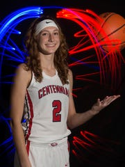 Lindsey O'Sullivan of St. Lucie West Centennial High School, all-area girls basketball finalist.