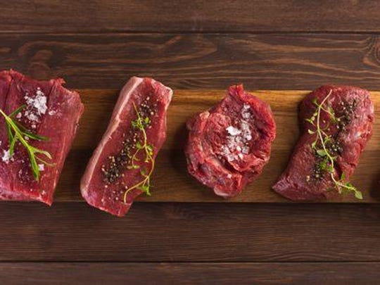 Cuts of meat from Farm Field Table butcher, which has locations in Ferndale and Grosse Pointe Park.