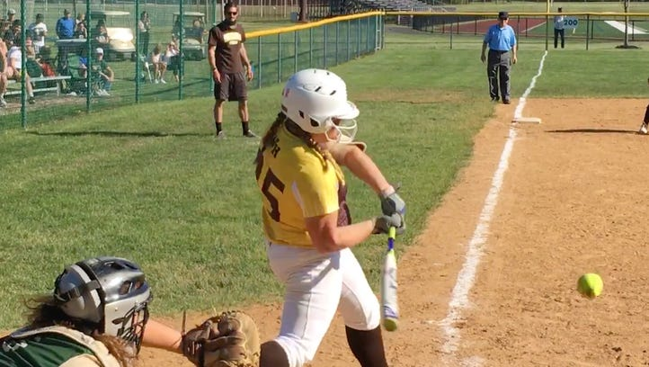 SOFTBALL: McCabe's gem, offensive breakout sends Watchung Hills past J.P. Stevens and into sectional final