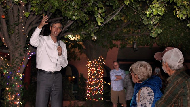 U.S. Representative Beto O'Rourke (D-El Paso) speaks during a campaign event in Abilene Friday Nov. 18, 2017. O'Rourke is hoping to unseat U.S. Senator Ted Cruz in the 2018 election.